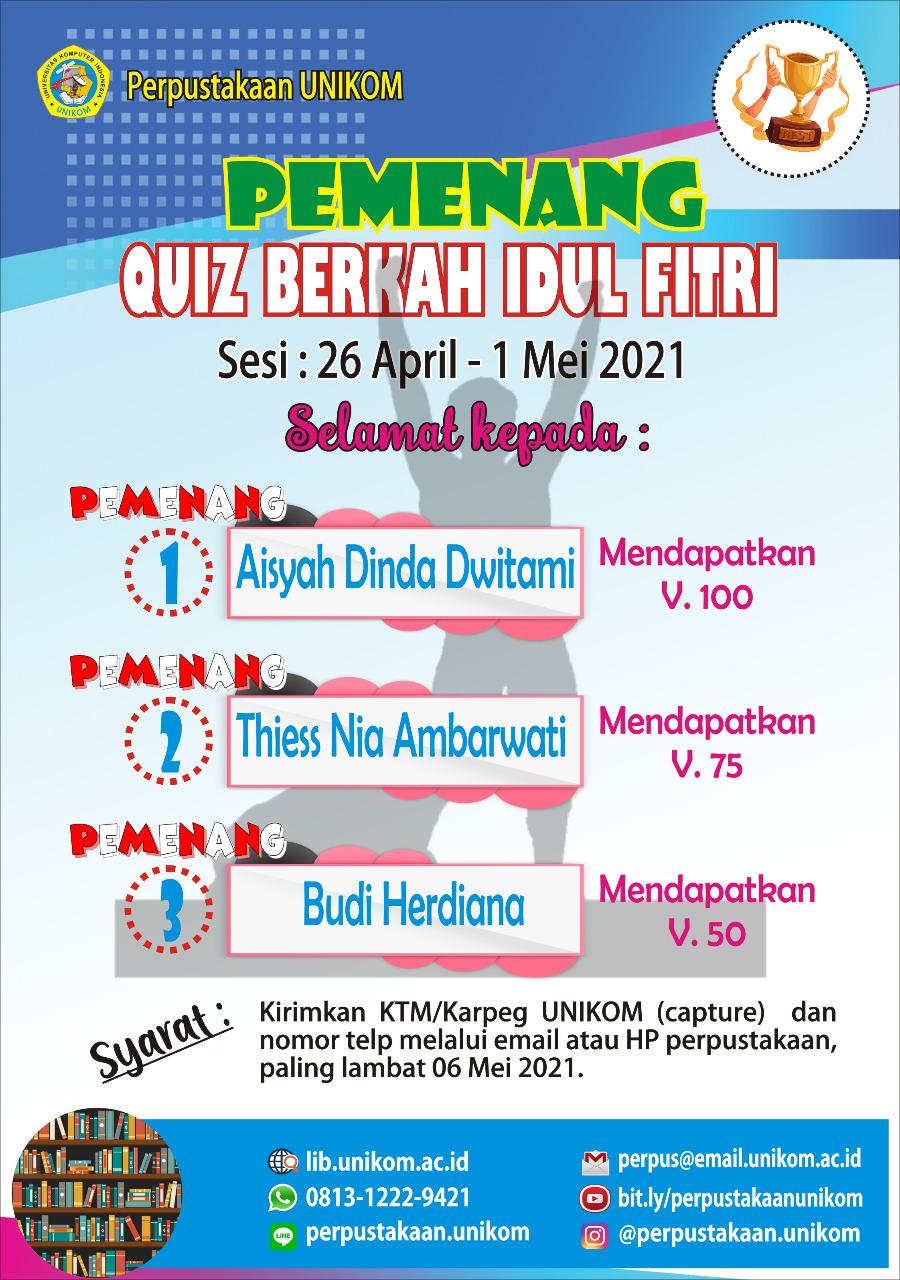pemenang quiz 26 -1 mei